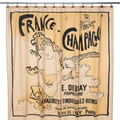 Champagne 72-Inch x 72-Inch Shower Curtain