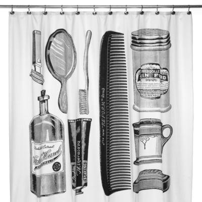 Apothecary 72-Inch x 72-Inch Shower Curtain