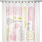 Powder Room 72-Inch x 72-Inch Shower Curtain