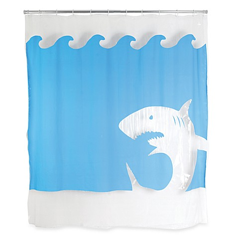 Kikkerland® Jaws 72-Inch x 72-Inch EVA Shower Curtain