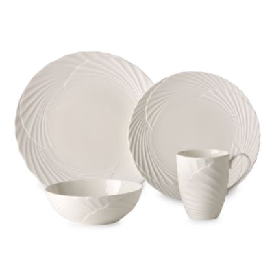 Lenox by Marchesa® Pleated Swirl 4-Piece Place Setting