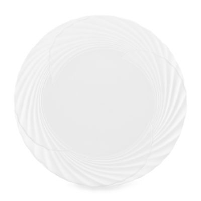 Marchesa by Lenox® Pleated Swirl 10.8-Inch Dinner Plate