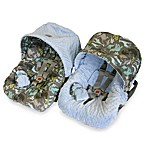 Baby Ritzy Rider™ Infant Car Seat Cover in Urban Jungle Blue & Blue Minky Dot