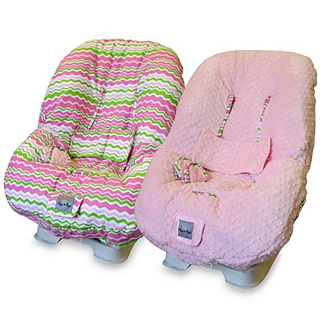 Ritzy Rider™ Toddler Car Seat Cover - Little Miss Zig Zag & Pink Minky Dot