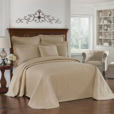 King Charles Matelasse Bedskirt in Birch