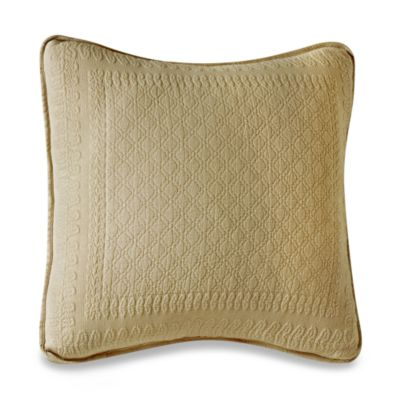 King Charles Matelasse Birch 18-Inch x 18-Inch Decorative Pillow