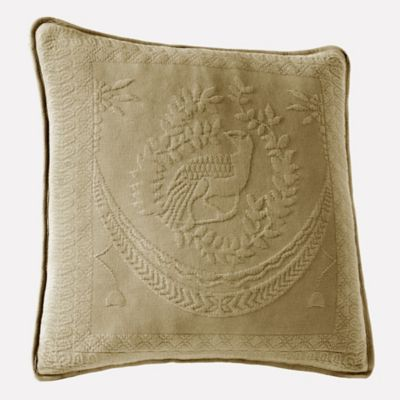 King Charles Matelasse Birch 20-Inch x 20-Inch Decorative Pillow