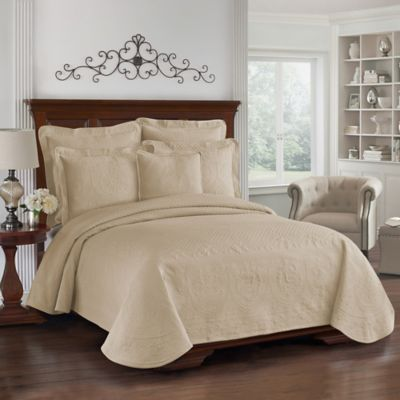 King Charles Matelasse King Bedskirt in Birch