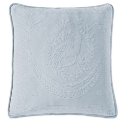 "King Charles Matelasse 20"" Square Provinicial Blue Pillow"