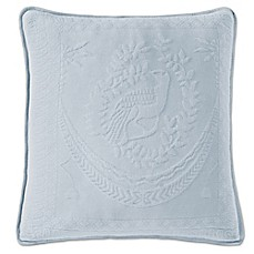 King Charles Matelasse 20-Inch Square Pillow in Provincial Blue