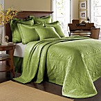 King Charles Matelasse Fern Bedspread, 100% Cotton