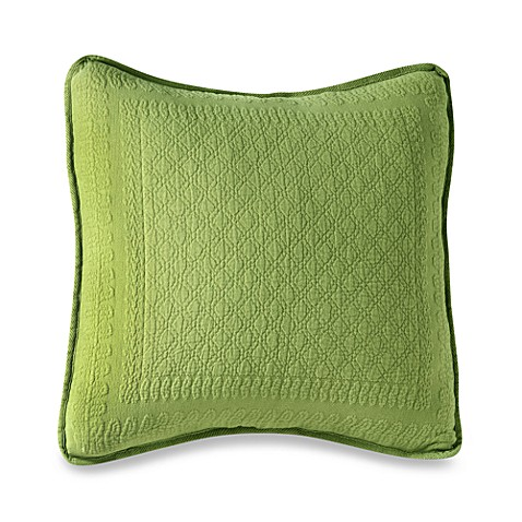 King Charles Matelasse 18-Inch Square Fern Pillow