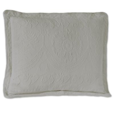 King Charles Matelasse 20-Inch Square Fern Pillow