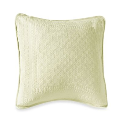 King Charles Matelasse 18-Inch Square Ivory Pillow