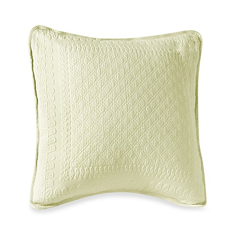 King Charles Matelasse 18-Inch Square Pillow in Ivory