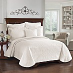 King Charles Matelasse Coverlet in Ivory