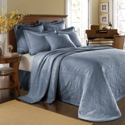 King Charles Matelasse King Bedspread in Powder Blue