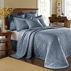 King Charles Matelasse Bedspread in Powder Blue