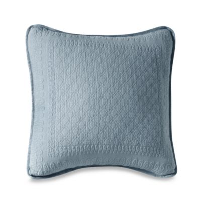King Charles Matelasse 18-Inch Square Powder Blue Pillow