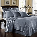 King Charles Matelasse Powder Blue Coverlet, 100% Cotton