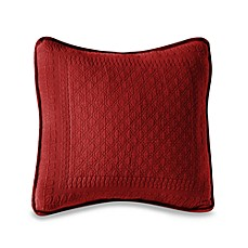 King Charles Matelasse 18-Inch Square Pillow in Scarlet