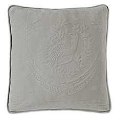 King Charles Matelasse 20-Inch Square Pillow in Scarlet
