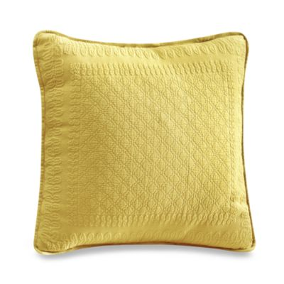 "King Charles Matelasse 18"" Square Sunshine Pillow"