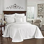 King Charles Matelasse White Bedspread, 100% Cotton