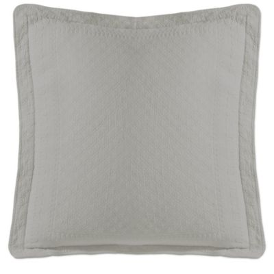 King Charles Matelessae 18-Inch Square Pillow in White