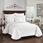 King Charles Matelasse White Coverlet, 100% Cotton