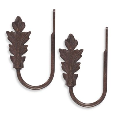 Unique Decorative Leaf Brown Holdbacks (Set of 2)