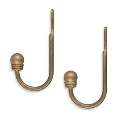 Unique Decorative Ball Gold Holdbacks (Set of 2)