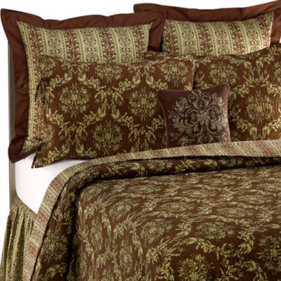 Windsor Chocolate/Green European Sham