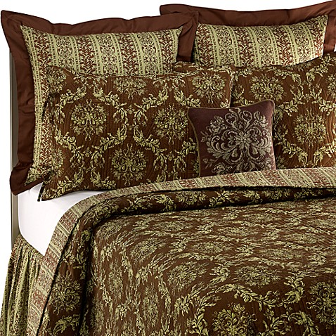 Windsor Chocolate/Green Quilt, 100% Cotton