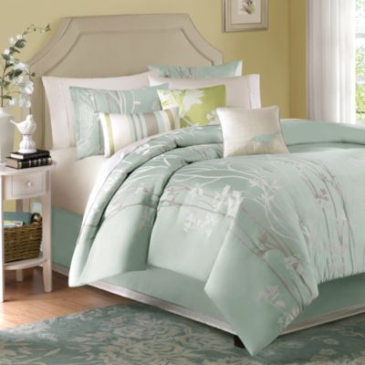 Green Jacquard Bedding