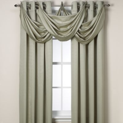 Insola® Odyssey Insulating Waterfall Window Valance in Seagrass