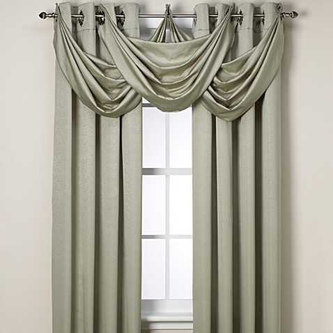 Buy Insola Odyssey Insulating Waterfall Window Valance In Seagrass From Bed Bath Beyond