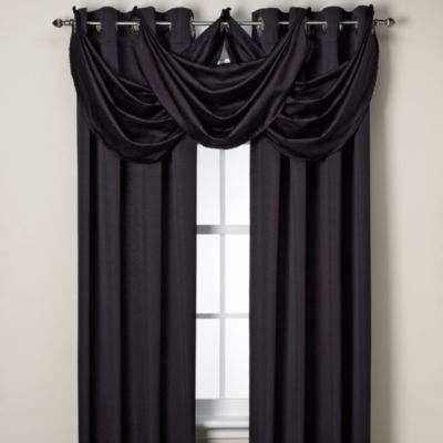 Insola® Odyssey Insulating Waterfall Window Valance in Black