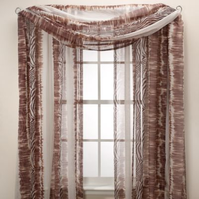 Croscill Safari Sheer Window Curtain Panel