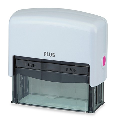 Large Guard Your ID Stamp in White