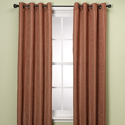 "Grendell 108"" Window Curtain Panel in Spice"