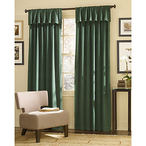 "Dillon 84"" Foldover Window Curtain Panel in Chocolate"