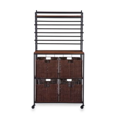 Craft Storage Rack with Baskets - Black
