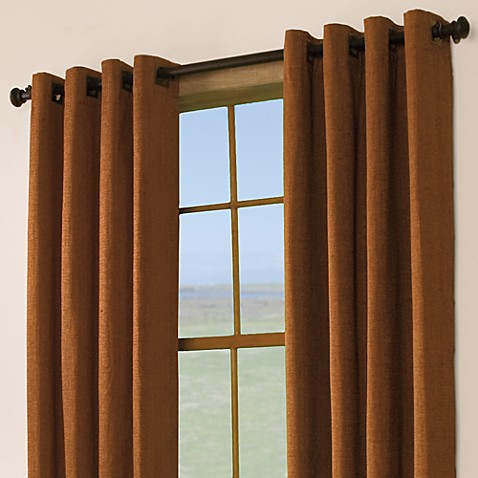 "Berman 63"" Window Curtain Panel with Grommets in Terracotta"