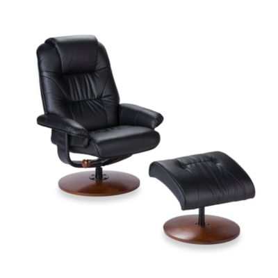 Brown Recliner and Ottoman Set