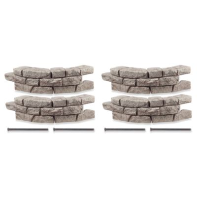 RockLock 4-Pack Border System in Curved Section