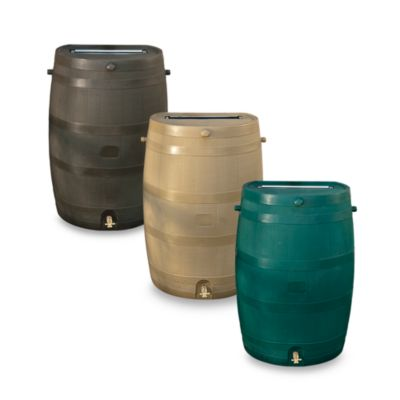 Rain Barrel in Brown