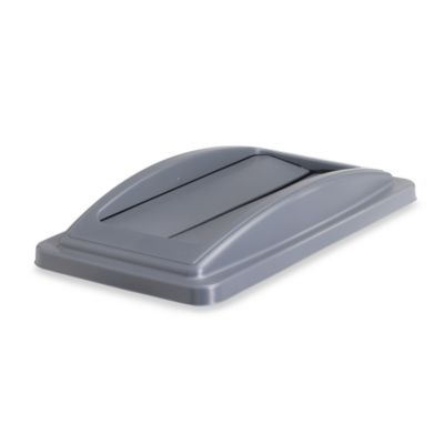 Waste Recycling Bin Flip Lid in Grey