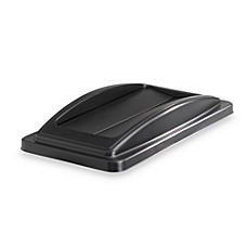 Waste Recycling Bin Flip Lid in Black