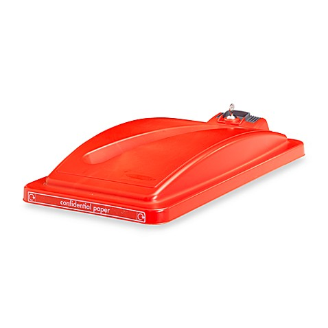 Recycling Bin Security Lid in Red